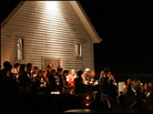 Citizens of Tallmansville, W.Va., hold a candlelight vigil for the miners trapped in the Sago Mine.