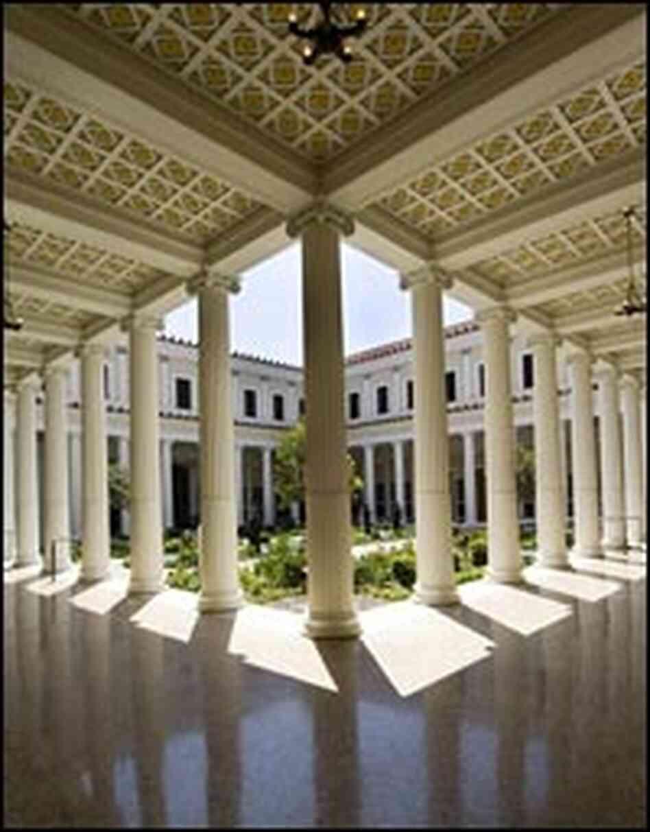 getty villa  elegance hides darker story   npr