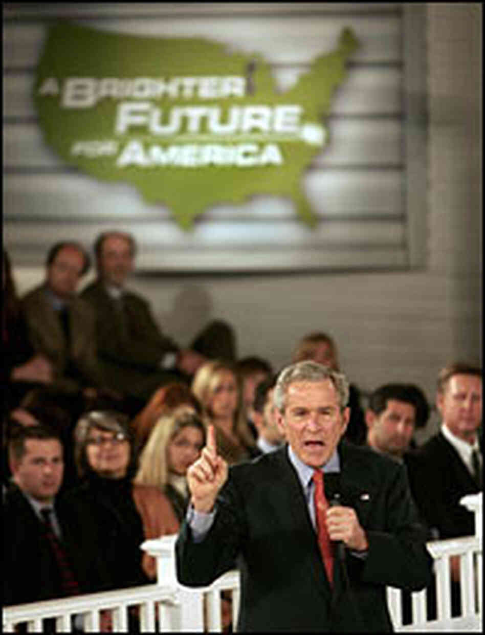 President Bush answers questions