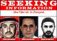 Photos of Abu Musab al-Zarqawi on the FBI's War on Terrorism' Web site.