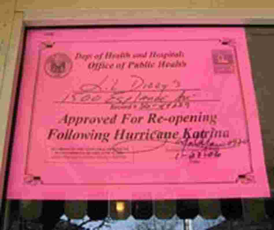 A health department notice says Li'l Dizzy's is approved for re-opening.