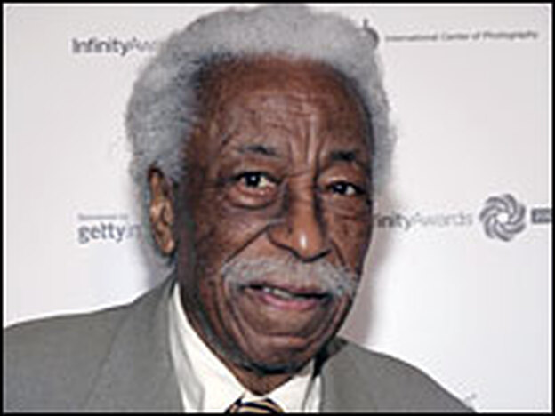 Photographer Gordon Parks attends the International Center of Photography's 21st Annual Infinity Awards in May 2005 in New York City.