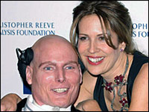 Dana and Christopher Reeve in 2003