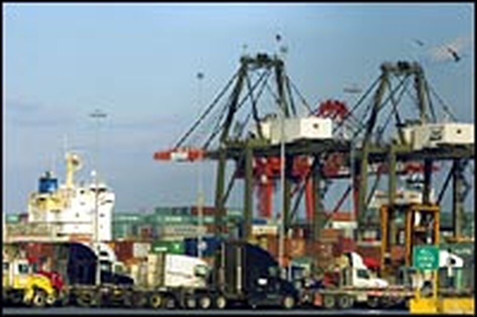 The facility in Newark, N.J., is among six U.S. ports that would be operated by Dubai Ports World under the controversial deal.