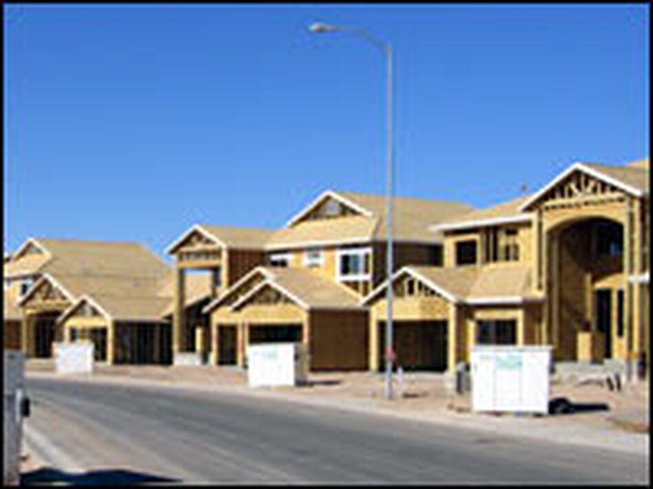 Houses under construction in the Alterra subdivision in Maricopa, Ariz. -- the future home of the Salter family.