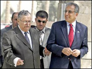 Zalmay Khalilzad with Iraq's president