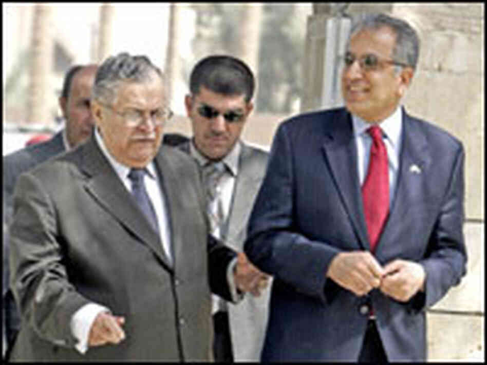 Zalmay Khalilzad with Iraq's president