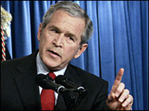 Bush Answer Questions at White House