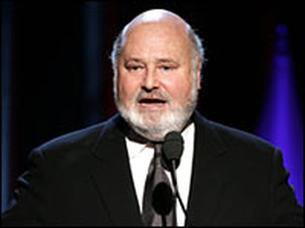 Rob Reiner speaks at the Producers Guild Achievement Award in Television ceremonies in Universal City, Calif., Jan. 22, 2006.