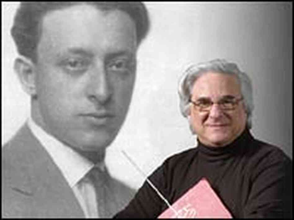 Murry Sidlin and photo of Rafael Schachter