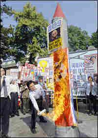 Protester in Seoul