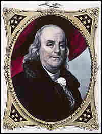 A sketch of Benjamin Franklin, circa 1783.