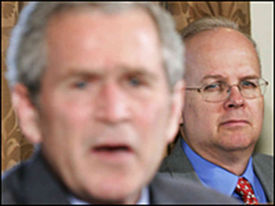 Rove watches Bush