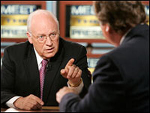 Vice President Dick Cheney and NBC's Tim Russert
