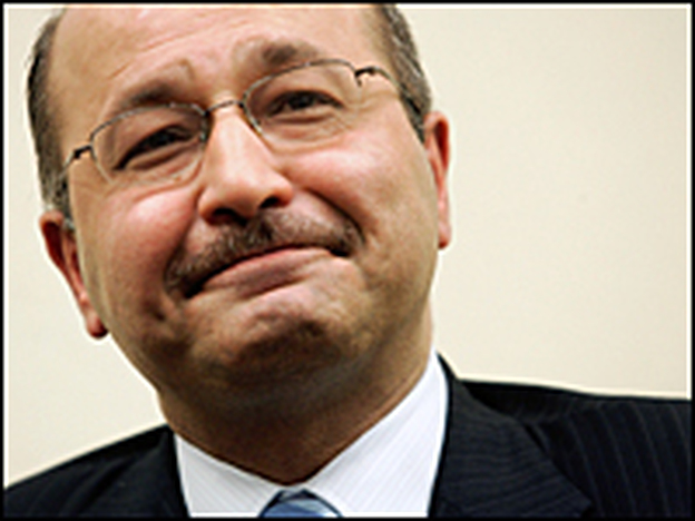 "Iraqi Deputy Prime Minister Barham Salih attends a discussion on ""Iraq in Transition"" at the Brookings Institution, Sept. 13, 2006, in Washington, D.C. Salih has served as deputy prime minister since May 2006."