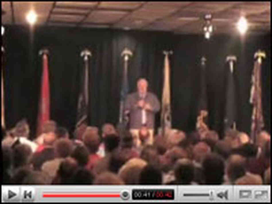 You Tube Screen Shot: McCain on stage.