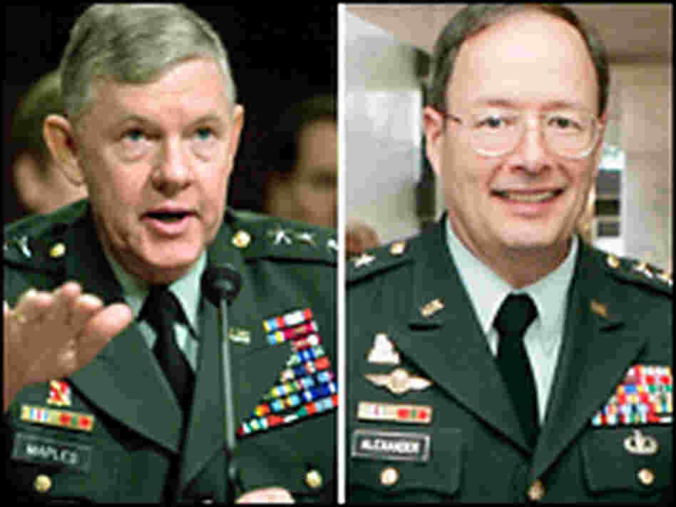 Lt. Gen. Michael Maples, Lt. Gen. Keith B. Alexander