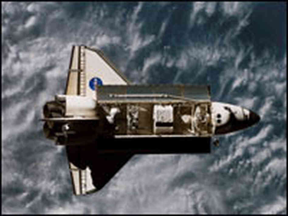 In this handout photo provided by NASA, The Space Shuttle Endeavour's payload bay is seen.