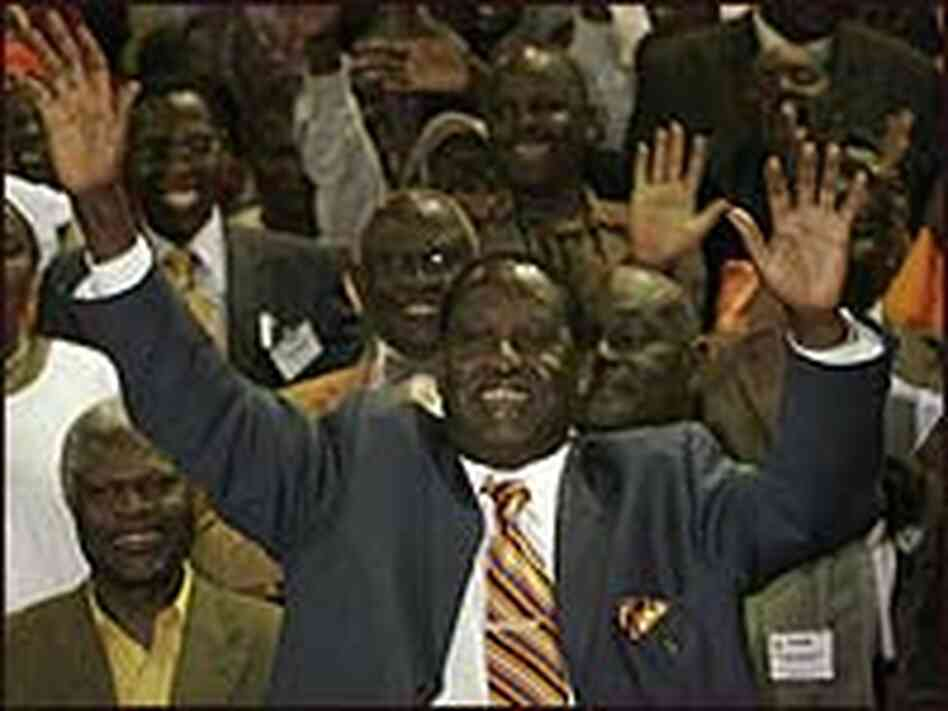 Presidential hopeful Raila Odinga