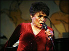 Eartha Kitt performs at Cafe Carlyle.