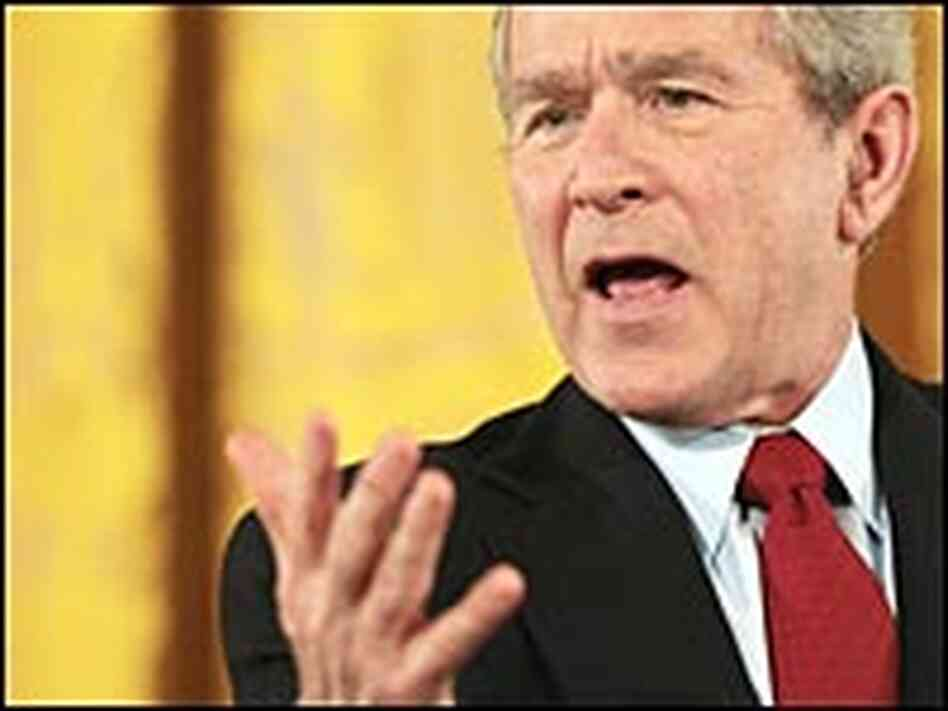 President Bush during a news conference