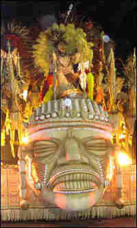 One of the opulent floats in the cavalcade of Carnival.
