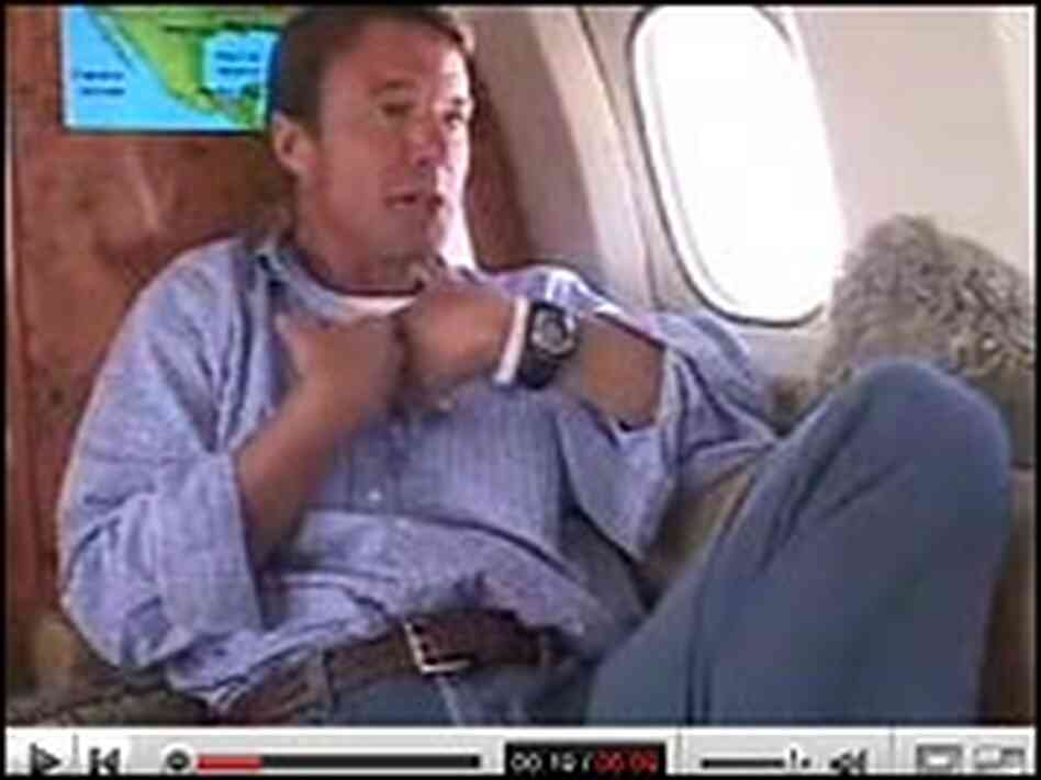 "John Edwards appears in a YouTube video called ""Plane Truths."""