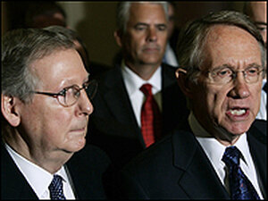 Sen. Mitch McConnell of Kentucky and Sen. Harry Reid of Nevada.