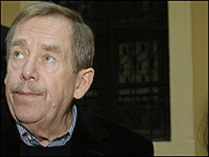 Vaclav Havel, photographed on his 70th birthday during a visit to Slovakia.