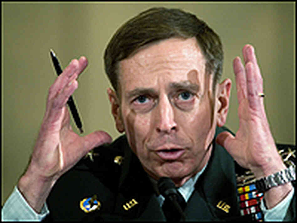 Lt. Gen. David Petraeus awaits the start of his confirmation hearing before the Senate Armed Service
