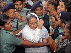 Former Bangladesh Prime Minister arrested by police/AP.