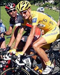 Race leader, Denmark's Michael Rasmussen/Getty.