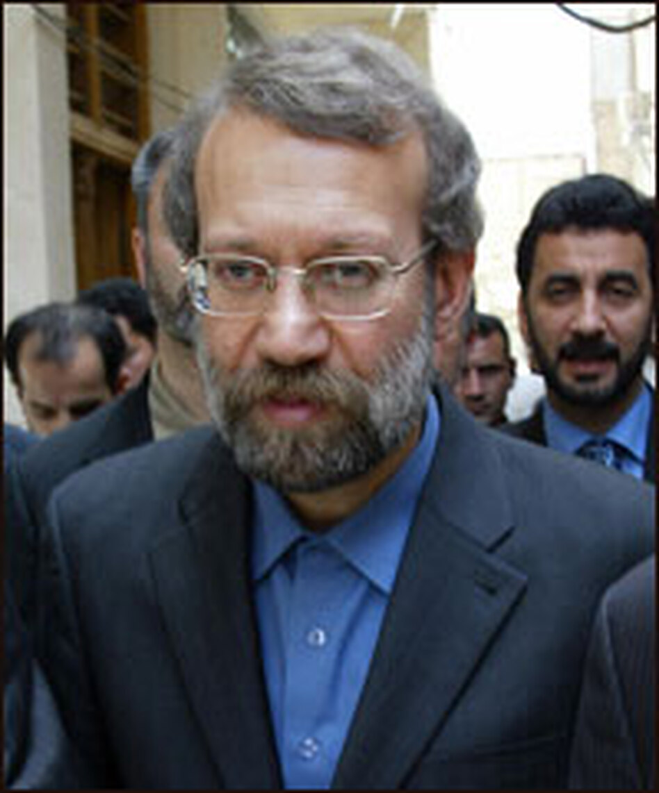 Iran's chief nuclear negotiator Ali Larijani dismissed the significance of economic sanctions.