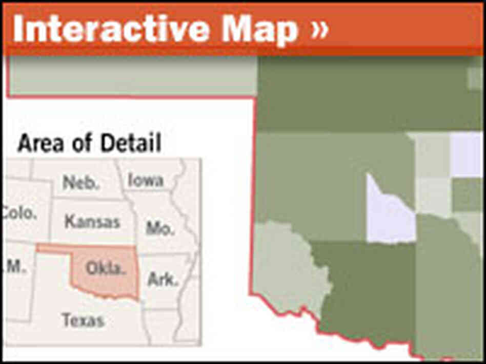 An interactive map of Oklahoma's tribes