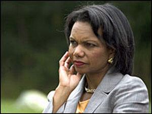 Secretary of State Condoleezza Rice/Getty.