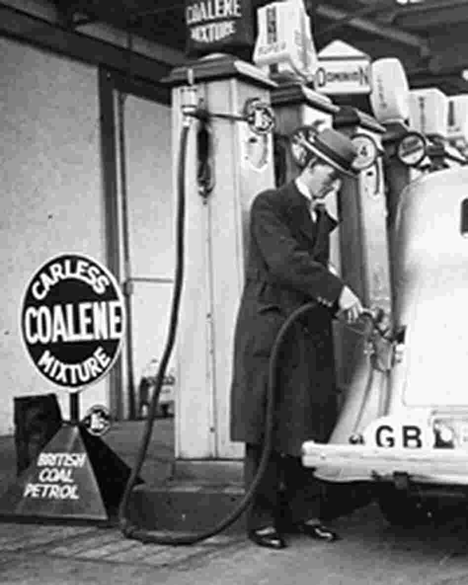In November of 1935, Member of Parliament Tom Williams got the first tankful of fuel from coal.