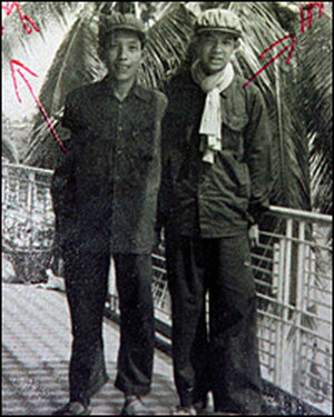 Kaing Khek Iev, left, the fearsome chief of the Khmer Rouge's security service/AP.