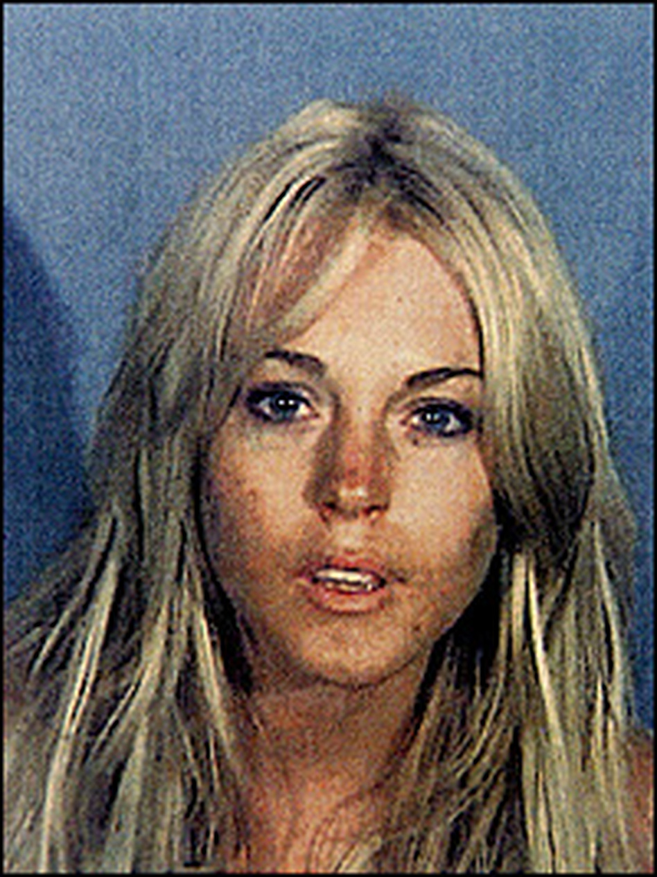 She's a frequent target of tabloid photographers, but this photo of Lohan was taken by police after a July 24 DUI arrest.