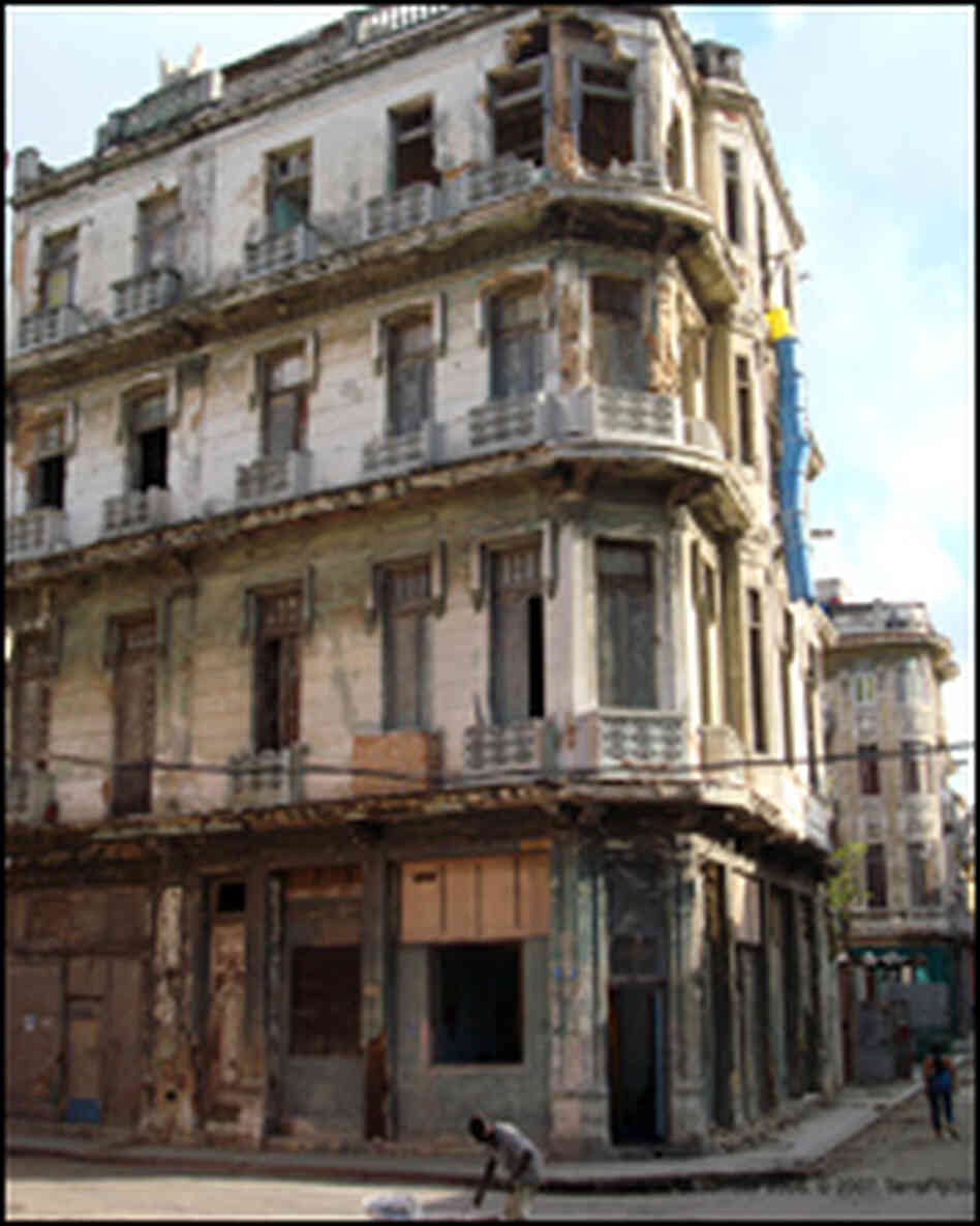 This Havana apartment building was photographed in 2006.