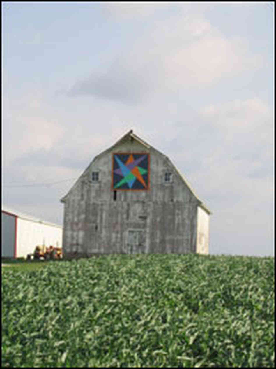"Greene County, Iowa, barns feature painted ""barn quilts""."