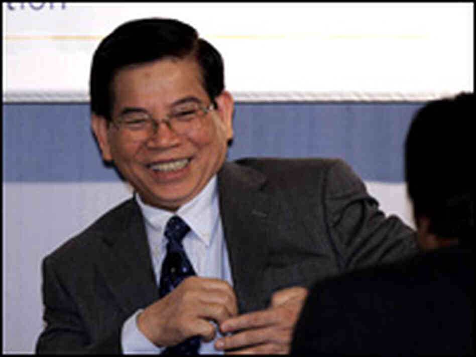 Vietnam's President Nguyen Minh Triet before addressing the Asia Society in New York, June 20, 2007.