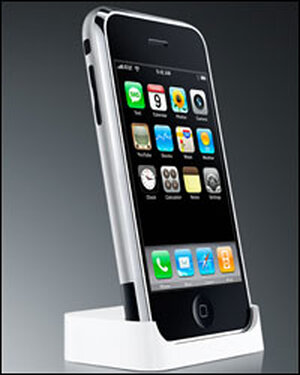 Apple's iPhone features a touch screen