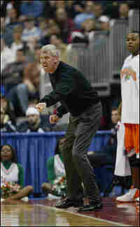 Coach Mike Gillespie, coaching the Rattlers in the 2004 NCAA tournament against Kentucky.