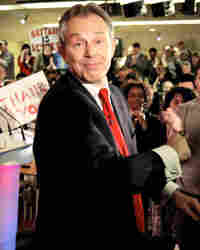 Tony Blair announced his pending departure in his home base of Sedgefield, England.