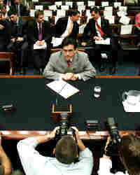 Attorney General Alberto Gonzales during a House Judiciary Committee hearing.