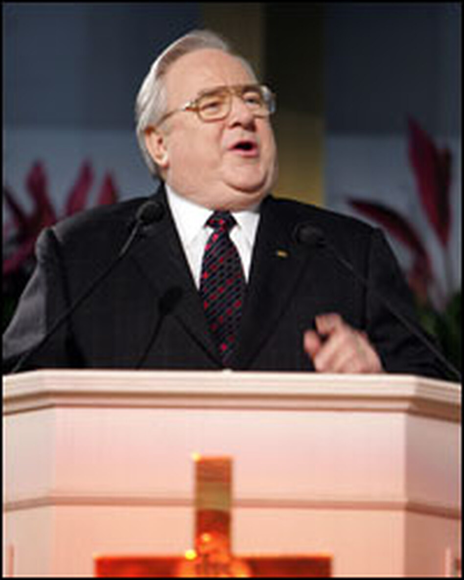 Evangelist Jerry Falwell, a prominent and controversial  leader of the U.S. Christian right, died Tuesday. He founded the Moral Majority in 1979, which brought millions of born-again Christians into the center of political activism.