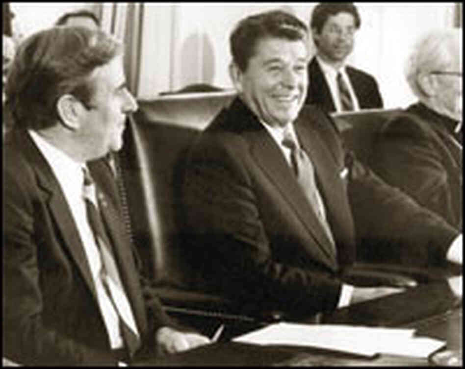 The Rev. Jerry Falwell and President Reagan