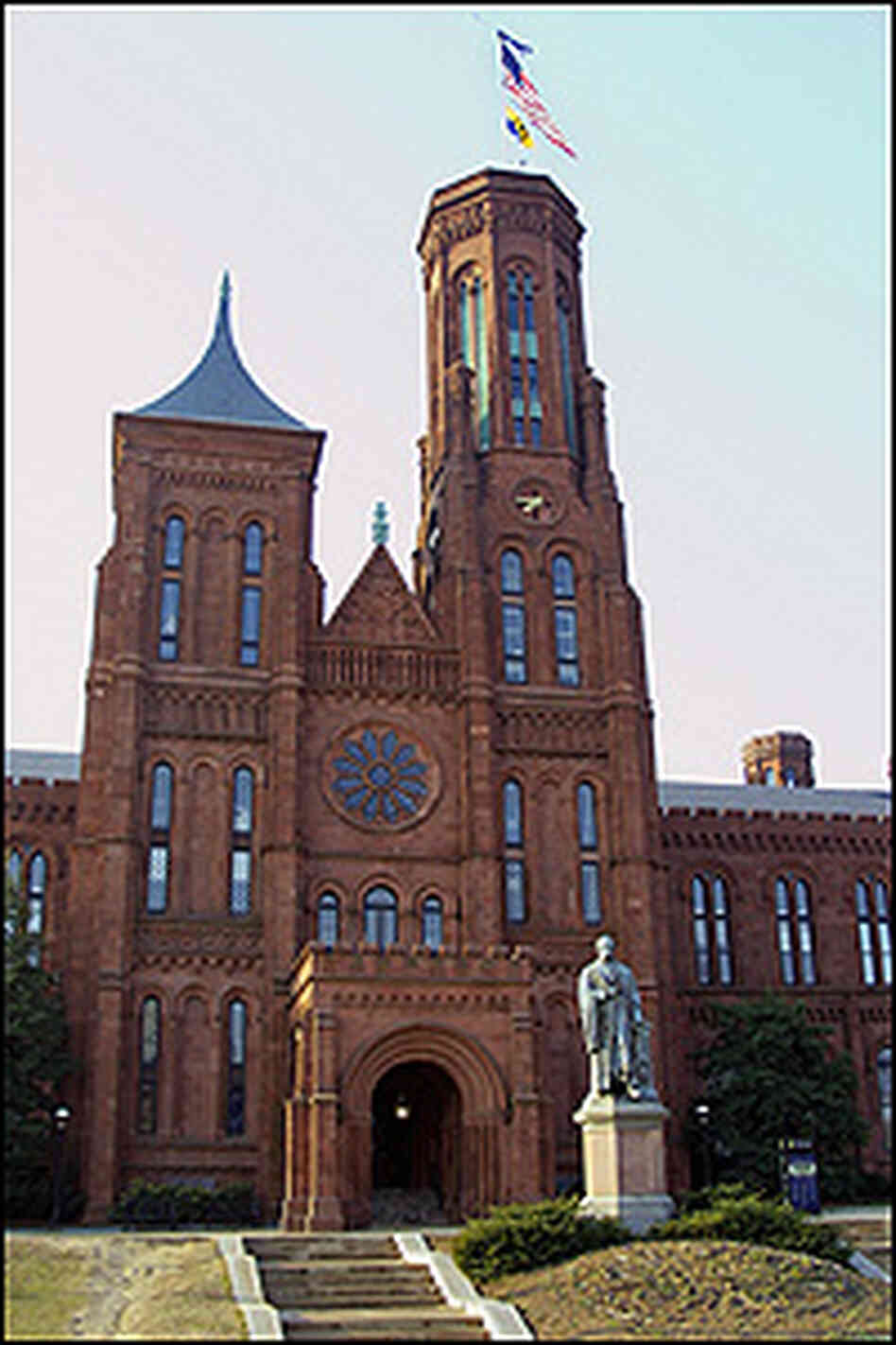 The Smithsonian's first building, popularly known as the Castle.