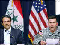 Maj. Gen. William Caldwell, spokesman of the Multi-National Forces-Iraq speaks at a press conference