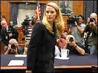 Monica Goodling, former Justice Department White House liaison, prepares to testify at the House